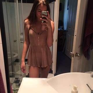 Brown Ava Playsuit