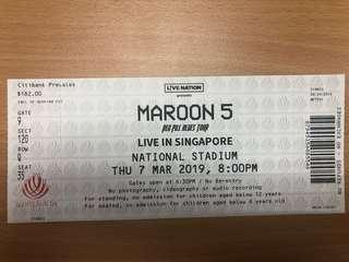 Maroon 5 Red Pill Blues Tour concert ticket for sales