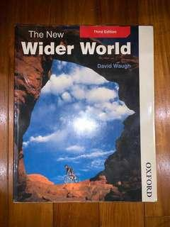 Cambridge IGCSE Geography textbook The New Wider World by David Waugh (third edition)