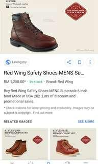 Original Redwing style 202 vintage supersole 6 inch boots
