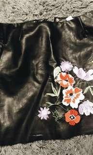 BNWT H&M Leather Skirt