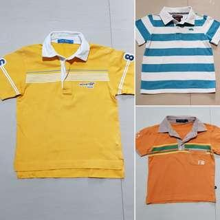 Preloved polo shirts for 3 yrsold