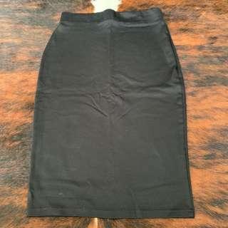 Cotton-On Black Pencil Cut Skirt