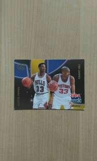 Scottie Pippen & Grant Hill Card
