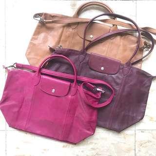 Longchamp LEATHER LARGE bag AUTHENTIC ORIGINAL