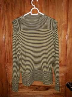 Green Long Sleeves Stripes