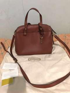 Fossil Satchel brown Authentic 100%