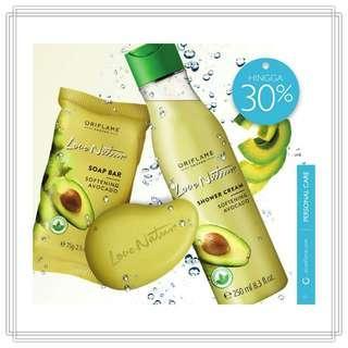 Love Nature Shower Cream with Avocado