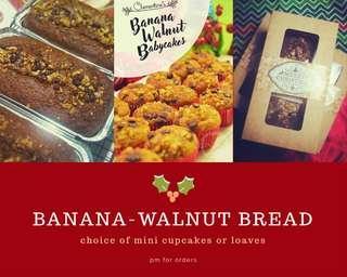 BANANA-WALNUT BREAD XMAS GIVEAWAYS