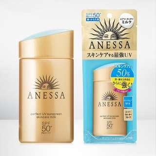 (INSTOCK) ANESSA Shiseido Perfect UV Sunscreen Skincare Milk (2018) 60ml