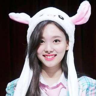TWICE Nayeon Cute Ear Flip Bunny Hat