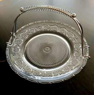 """12"""" Glass Serving Tray With Handle"""