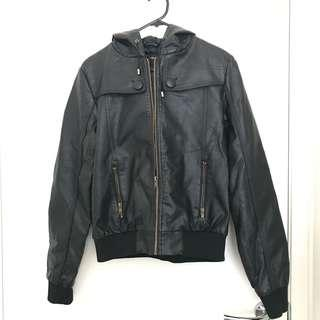 Unbranded synthetic leather jacket