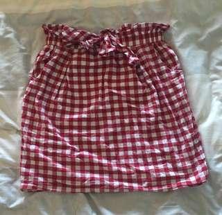 🚚 《含運》紅色格紋短裙