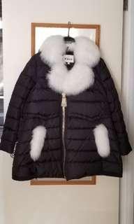 全新狐狸毛娃娃款羽絨外套 Brand new fox fur collar down