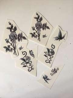 Rose and butterfly Fake Tattoos