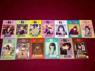 "I""s vol.1-14 English Manga"