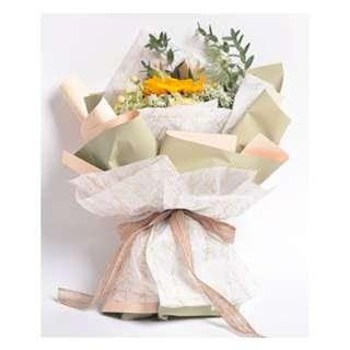 2color bouquet wrapping paper