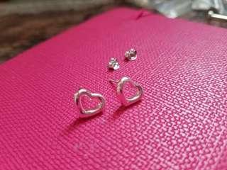 Sterling Silver 925 🍃10mm🍃HappyHeart Earrings 純銀925耳環