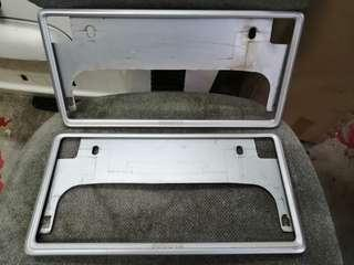 Japan toyota silver plate frame holder