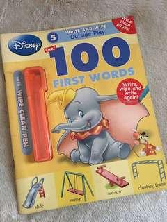 100 First Words Book with Write and Wipe Pages