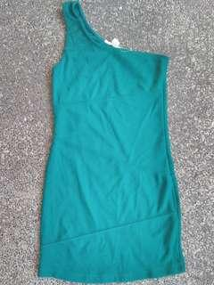 Green dress can fit S-M