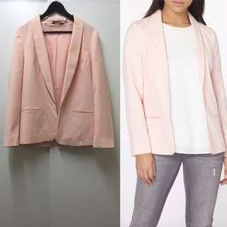 DP Blush Crepe Fitted Blazer