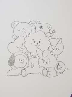 BT21 Notebook Commisions