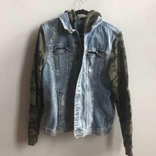 Zara jacket jeans hoodie camouflage