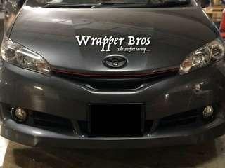 Toyota wish dechrome