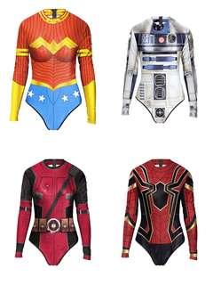 4c47c797273a deadpool set spiderman costume osplay lady jumpsuit superheros star war  Halloween party swimming suit