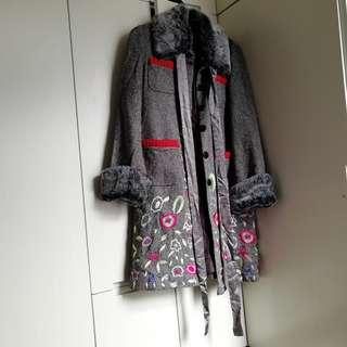 Moschino Coat Jacket  薄長褸,毛毛可除下