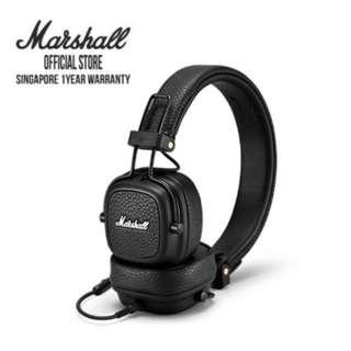 🚚 Marshall Major III Black