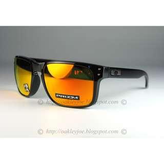 a02dddb611 BNIB Oakley Holbrook polished black + prizm ruby polarized oo9102-F155  sunglass shades