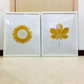 (BRAND NEW) Wall Frames with Art [40cm x 50cm]