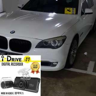 Idrive i11 Car Camera Dvr Installed into a Gorgeous White 7 series