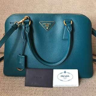 Authentic 95% New Prada Saffiano Handle Bag
