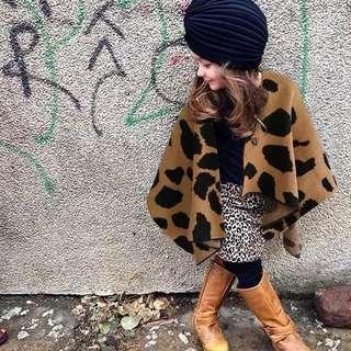 Im As Stylish As Mummy Leopard Print Ponchu