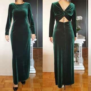 Vintage velvet evening gown/ dress