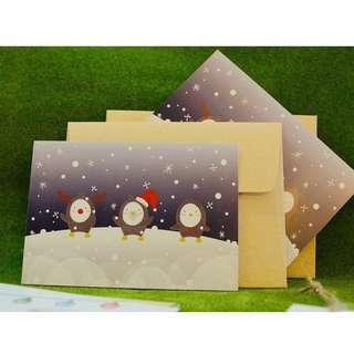 Penguin Christmas Post Card