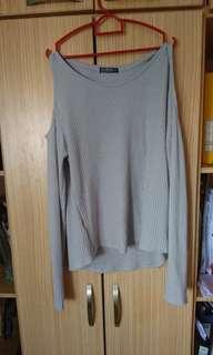 Cotton On grey cold shoulder
