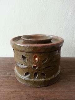 Clay essential oil candle diffuser/ teapot stove