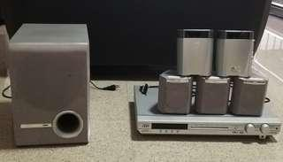 JVC RX-E5S Home Theater System