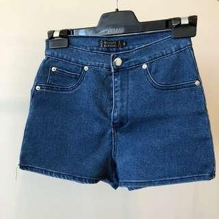 Noughts And Crosses Denim High Waisted Shorts (Aus Size 6)