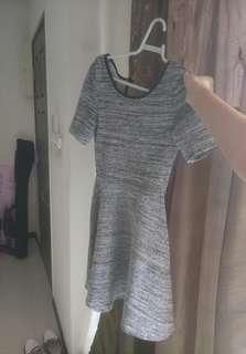 H&M Grey Christmas Dress