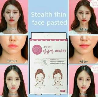 Dodo Label🌟Face Lifting V Shape Face Patch Invisible Stickers Thin Chin Face Tighten Adhesive (40-Tapes)