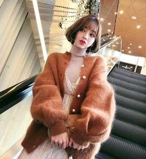 Oversized Angola Fur Boyfriend Jacket