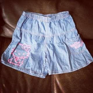 hello Kitty 140 shorts 裙褲