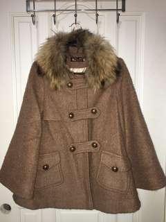 🚚 毛呢傘狀大衣