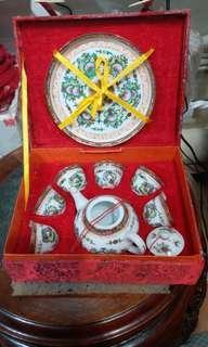 70年代尾廣彩手繪茶杯套裝$380